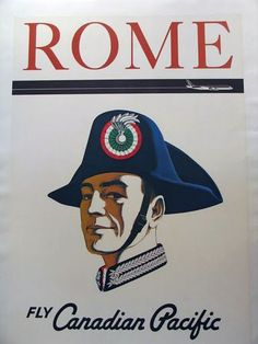 Canadian Pacific Rome travel poster.