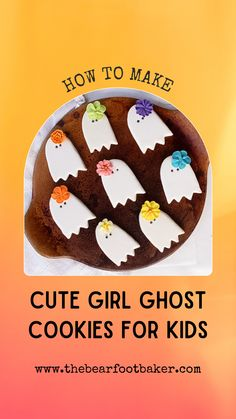 Looking for cute Halloween cookies to make? These easy Halloween treats are simple to make, and kids will love to help! #thebearfootbaker #halloweencookies #ghostcookies