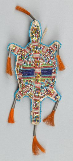 American Indian Art:Beadwork and Quillwork, A SIOUX BEADED HIDE FETISH. c. 1890... Image #1