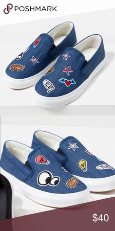 ZARA SNEAKERS Super fun and cute shoes wore them only three times Zara Shoes Sneakers