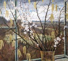Christopher Nevinson – View of the Sussex Weald - Tinte Window View, Window Art, Open Window, Harlem Renaissance, Post Impressionism, Through The Window, Art Database, Art Uk, Art Deco