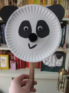 Easy and cute panda craft to make on Earth Day. Panda is an endangered animal. Panda for letter Pp