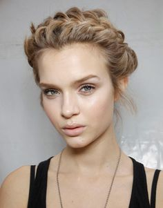 Spring 2012 Hair Trends – Sophisticated Braids & Twists. Romantic twists at Valentino
