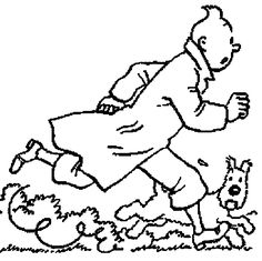 Tintin (blown up would be a good coloring page...)