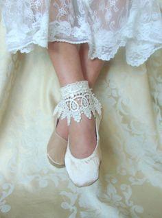 Bridal Flat ShoeWhite Bridal Flat White by HopefullyRomantic, $125.00