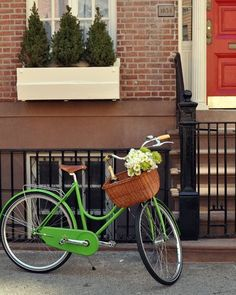 Kate Spade Bike - I would obviously ride it around with a bottle of champagne and a bunch of flowers in the basket ALL the time...