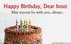 Happy Birthday Wishes Messages For Boss Birthday Wishes For Sir, Happy Birthday Sms, Happy Birthday Wishes Messages, Belated Birthday, Message For Boss, One Word Quotes, Lucky To Have You, Anime Muslim, Phone