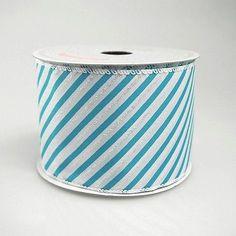 Iridescent Candy Striped Ribbon, 2 1/2-inch, 10-yard