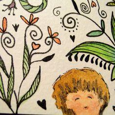 Com cores no jardim Colors in the garden