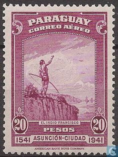 Stamps - Paraguay - 400 year anniversary of Asunción 1942