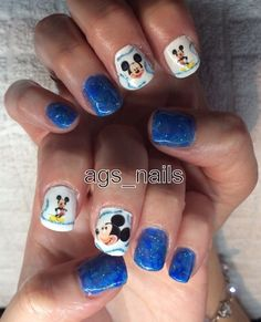 Mickey Mouse blue marble nails #slimmingbodyshapers To create the perfect overall style with wonderful supporting plus size lingerie come see slimmingbodyshapers.com
