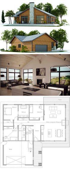 Ce petit chalet sans sous-sol de style urbain au toit en pente et à