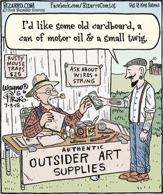 Outsider Art Supplies, Bizarro for Fart Humor, Geek Humor, History Cartoon, Art History, Bizarro Comic, Dentist Humor, Comics Kingdom, Comic Panels, Fun Comics