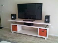 IKEA Large Format Media Solution  Expedit + vika amon top + capital legs