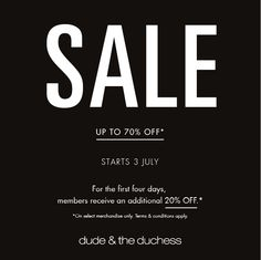 SHOP NOW. Up to 70% off at our boutiques in Bangsar Village II, Publika and Empire Shopping Gallery. #dudeandtheduchess