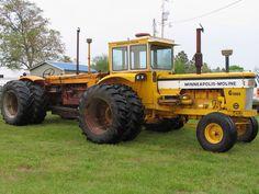 Tandem Big Tractors, Vintage Tractors, John Deere Tractors, Vintage Farm, Agriculture Tractor, Farming, Homemade Tractor, Minneapolis Moline, Train Truck