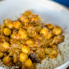 Jehněčí curry s cizrnou - Spicy Crumbs Lamb Recipes, Indian Food Recipes, Ethnic Recipes, Chana Masala, Spicy, Curry, Curries, Indian Recipes