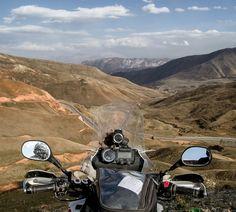 Yamaha XT 660 Z Tenere. Beautiful nature of Kyrgyzstan. Chyyyrchyk pass. Osh. Motorcycle Adventure Travel Rider. VISORHEAD.