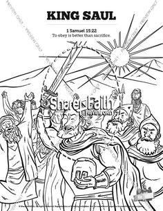 King Saul Sunday School Coloring Pages