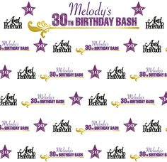 Best of Step Repeat Backdrops March 2016 - 30th Birthday Bash