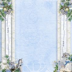 Fond - Papier - Background - paper - Frame - Blue