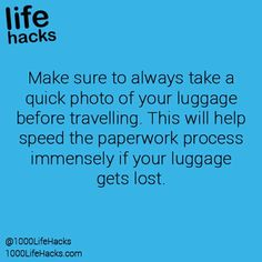 travelling tips: taking photo of your luggage before travelling.