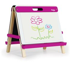 Fuchsia Table Top Art Easel