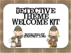 Detective Themed Welcome Kit from Classroom Snapshots on TeachersNotebook.com -  (36 pages)