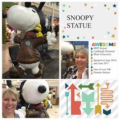 I have an affection for Roadside Kitsch statues. You know the giant cartoonish like statues that sit often along major routes in America? They even get their own scrapbook. Now I am on the hunt to see all 500 Peanuts statues that are located around the Twin Cities. Pages created by Needs A Ribbon using the Project Life App