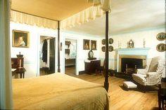 George and Martha Washington's bedroom at the Mount Vernon Estate.