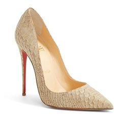 "Christian Louboutin 'So Kate' Pointy Toe Pump, 4 3/4"" heel ($695) ❤ liked on Polyvore"