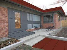 this is the color were going for on the eves! see how it brings out the brick? Cincinnati Modernation: Mid Century Modern Curb Appeal Poll