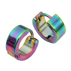 * Penny Deals * - PiercingJ Colorful Stainless Steel Hoop Fashion Earring 1 Pair [Jewelry] * More info could be found at the image url.