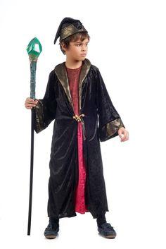 Disfraz de brujo encantador para niño