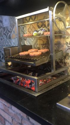 Outdoor Barbeque, Outdoor Kitchen Patio, Pizza Oven Outdoor, Outdoor Kitchen Design, Outdoor Cooking, Bbq Grill, Concours Design, Cooking Restaurant, Brick Bbq