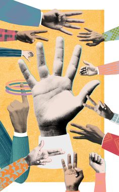 Eda Akaltun - Illustration for the How to section of Wired Magazine. The hands were later animated for the iPad issue. Collages, Surreal Collage, Magazine Collage, Magazine Art, Collage Design, Collage Art, Photomontage, Montage Photo, Collage Illustration