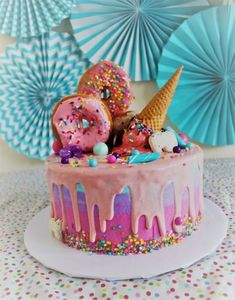 Amazing Picture of Birthday Cake Ice Cream Birthday Cake Ice Cream Make This Fun And Whimsical Salted Caramel Ice Cream Cake Recipe At Ice Cream Birthday Cake, Diy Birthday Cake, Homemade Birthday Cakes, Homemade Cakes, Birthday Ideas, Birthday Decorations, 30th Birthday Cake For Women, Easy Kids Birthday Cakes, Unique Birthday Cakes