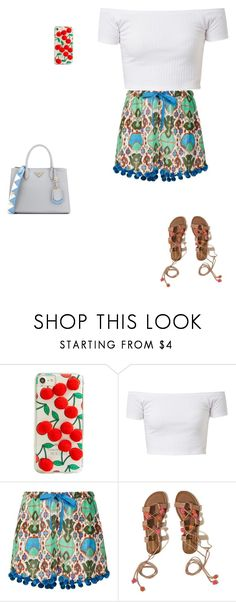 """Untitled #17179"" by explorer-14576312872 ❤ liked on Polyvore featuring Skinnydip, Figue, Hollister Co. and Prada"