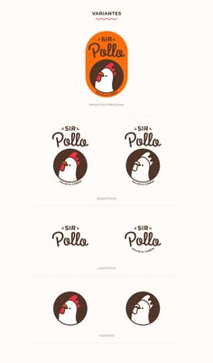 SIR POLLO - This logo is really funny, and can be used in so many ways seeing how it doesn& need to have - Web Design, Food Logo Design, Logo Food, Brand Identity Design, Graphic Design Branding, Logo Branding, Typography Design, Lettering, T Logo