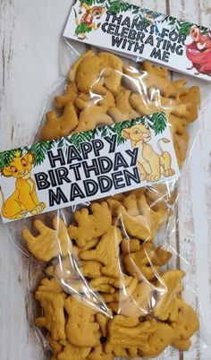 Lion King Goodie Bag- Lion King Topper- Lion King Favors- Printable- Labels by on Etsy Lion Birthday Party, Lion Party, Lion King Party, Lion King Birthday, Boy First Birthday, First Birthday Parties, First Birthdays, Lion Guard Birthday Cake, Birthday Ideas