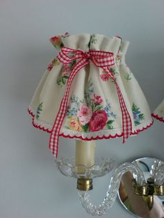 precious vintage barkcloth lamp shade: by prettyshabby on flickr