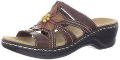 Clarks Women's Lexi Myrtle Sandal,Brown,10 M US