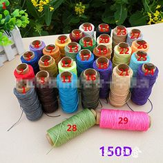 Inton 6pcs colorful Waxed Thread for Leather Sewing Leathercraft Tool Stitching Cord set 6 pcs random *** You can get additional details at the image link.