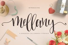 Mellany Typeface by Font & Graphic Land on @creativemarket
