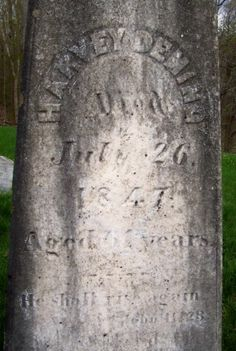 Tombstone Tuesday: Harvey Deming & John Deming #genealogy