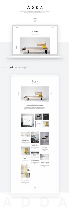 Ädda - Design & Lifestyle Blogger Theme - Minimal and Modern Blog Template - Clean Blogger Design - Scandinavian Style Blog Template