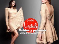 How to knit dress skirt skirt and bare back tutorial crochet Crochet Skirts, Crochet Clothes, Crochet Lace, Clothing Patterns, Dress Patterns, Crochet Patterns, Woolen Clothes, Knitwear Fashion, Dress Tutorials