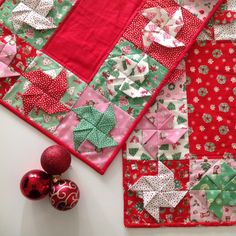Christmas Spin Table Runners Tutorial by Lilabelle Lane @ Bernina