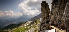 Bayern, Mountainbiken in den Alpen