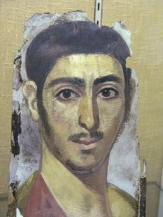 Mummy portrait of , Hawara, Fayum, Egypt,